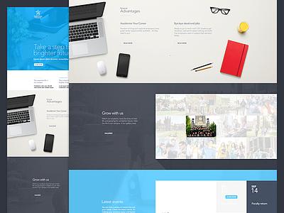 The school! template college school interface website minimal ux ui