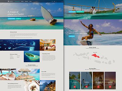 Maldives Resorts travel booking islands hotels maldives interface website minimal ux ui