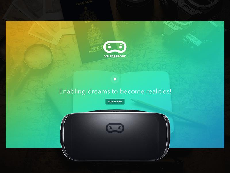VR for kids ux ui hospital kids project passport vr interface website minimal