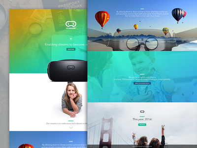 Dreaming big with VR ux ui hospital kids project passport vr interface website minimal