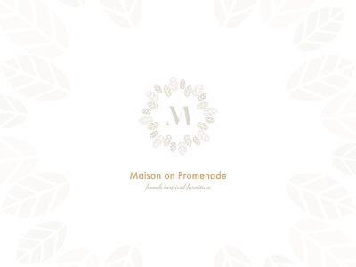 Maison on Promenade feathers shabby chic home decorations brand logo