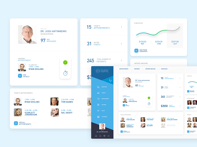 Care Brother UI dashboard minimal webdesign ux ui interface patient medical health doctor