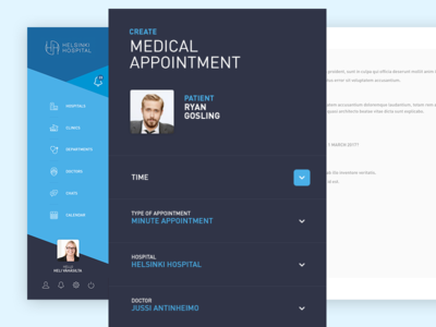 Medical Appointment | CareBrother UI dashboard minimal webdesign ux ui interface patient medical health doctor