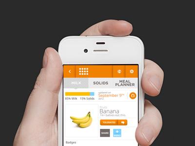 Mobile Baby App mobile app mobile app user interface ui ux iphone ios