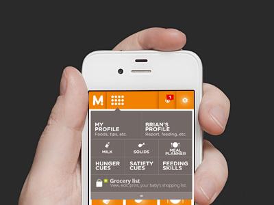 Mobile Baby App - Menu page mobile app mobile app user interface ui ux iphone ios