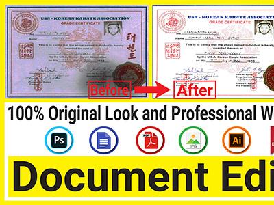 Document edit animation icon flat branding minimal art logo graphic design vector illustration design