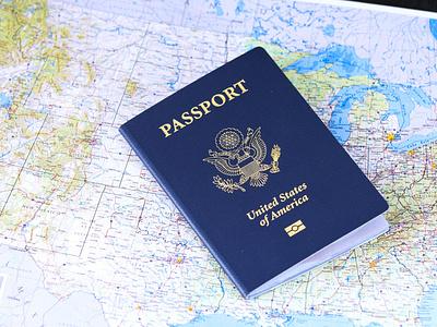 passport icon minimal logo graphic design illustration design
