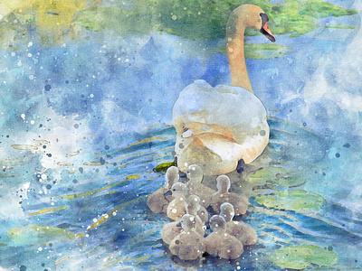 Water Color Design billboard branding minimal logo design logo petwatercolor watercolorart watercolor