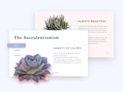 The Succulentionism Website Concept