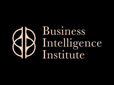 Business Intelligence Institute logo review club institute intelligence business redesign branding