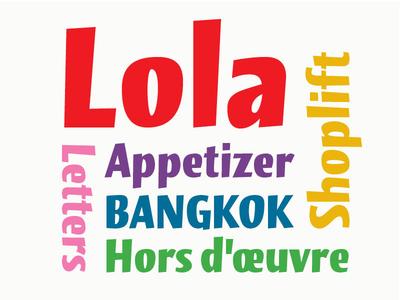 Lola, a reborn typeface