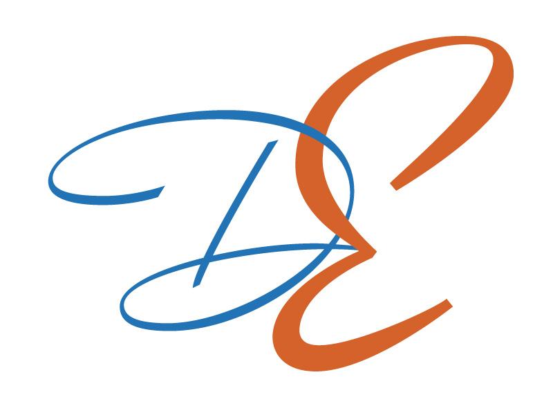 D E Tipofino lettering calligraphy monogram capitals tipofino