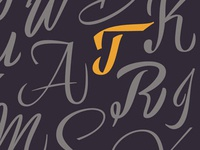 Some random calligraphic letters