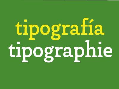 Tipografia tipographie