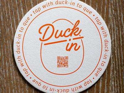 DuckIn QR Code Coaster