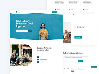 Thirtyone Landing Page Design company development business figma homepage website landing ui