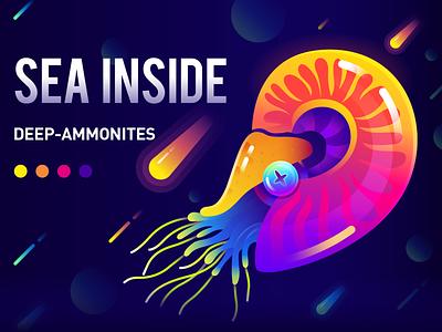 Nautilus/深海长眠系列-鹦鹉螺 练习 graphic design branding logo illustration drribble design ui