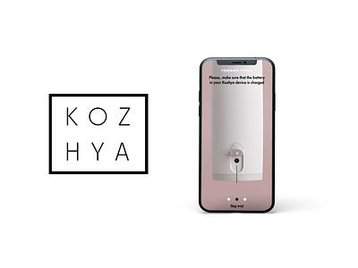 KOZHYA - UI Concept Visuals for a BeautyTech app ui design 3d animation animation