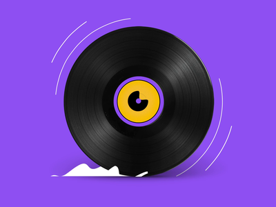 Vinyl running design music character illustration motion animation smoke vynil