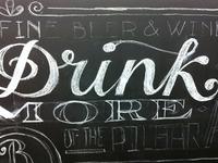Blanche Chalkboard Mural