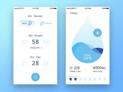 water tracking light theme