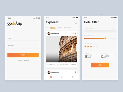 Travel App cardui furniture house interior rental home travel visiting appui flat booking mobile ui