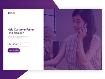 Login page customer care webapp sign in form sign in login page