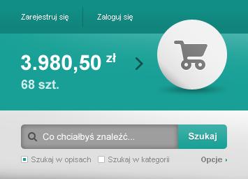 Alcarve web shop cart search