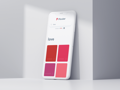 Picular: Love ❤️ design red tool branding ui palette color iphone minimal mobile web love