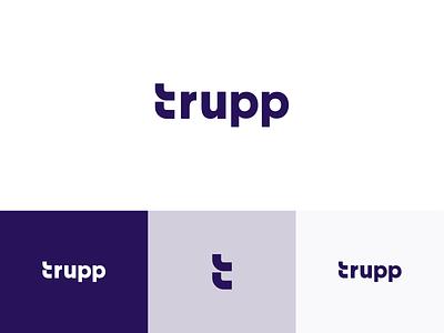 Trupp Logotype tool agency consultancy purple concept website app web branding logo trupp