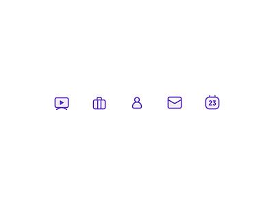 Trupp Icons: Exploration 1 trupp mail case profile presentation calendar daily ui icon mobile web minimal icons