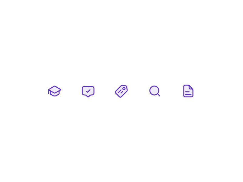 Trupp Icons: Exploration 2 comment file search tags education icon