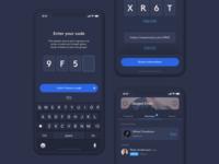 WAV – Code Invite invite code dark ui minimal app design