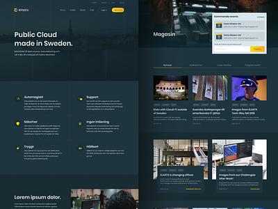 Elastx Website branding landing page cloud dark logo minimal mobile web ui design app