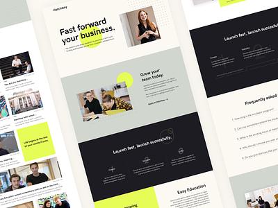 Hatchbay – Website vibrant business website branding logo web ui