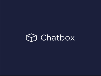 Chatbox simple space white wip shape box chat logotype type flat icon logo