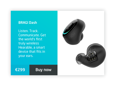 Bragi Earbuds daily ui sound card modern flat store product app website sketch design ui