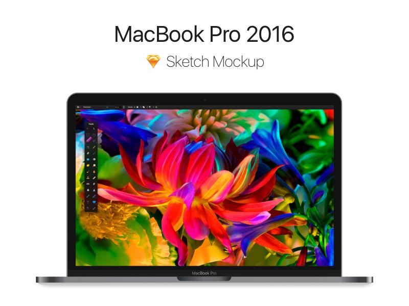 Macbook Pro 2016 - Free Sketch Mockup sketch grey space mockup sierra ios free screen apple pro macbook freebie
