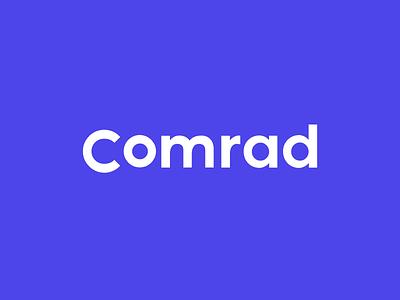 Comrad Logotype service app consultancy type logo wordmark design