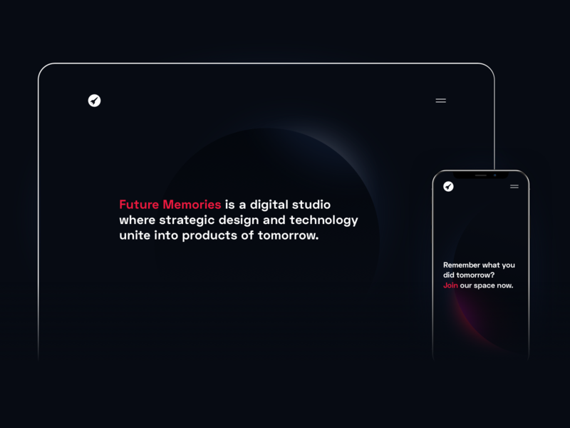 New site, who dis? minimal future developers tech ux website agency dark space branding mobile ui web design
