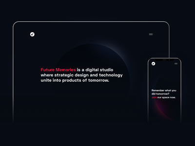 New site, who dis? minimal future developers tech ux website agency dark space branding mobile ui web design