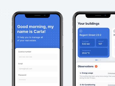 Carla – Real Estate Management real estate pattern sketch daily ui ios minimal ux mobile ui app design