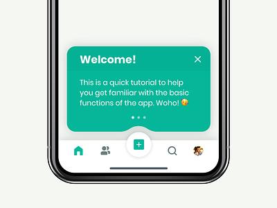 App Tooltip 🥳 daily ui ios iphone minimal ux mobile ui web app design