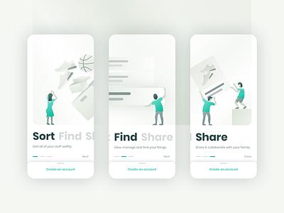 Onboarding: Inventory App illustration inventory onboarding gradient ui daily ui sketch ios minimal mobile app