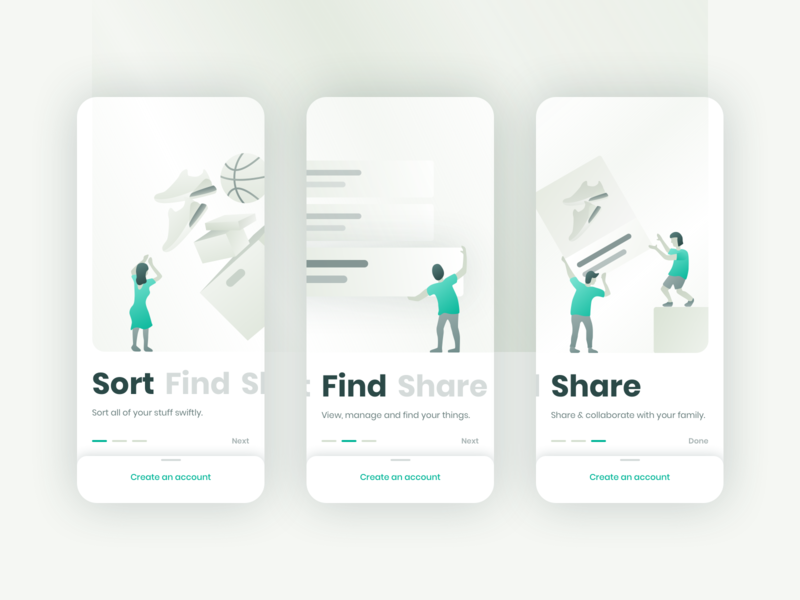 Onboarding: Inventory App illustration inventory onboarding gradient ui daily ui sketch ios minimal mobile app