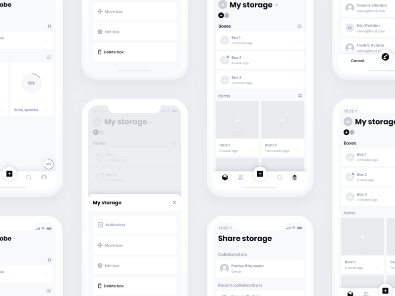 HiFi Wireframes v2 daily ui ui ux iphone wire wireframe clay minimal app