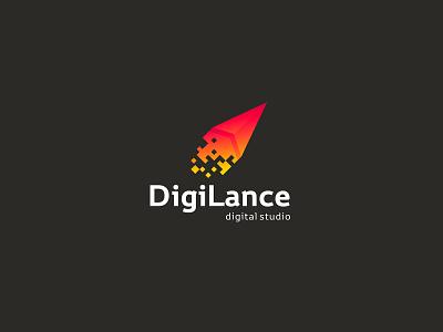 DigiLance typography design company font brandidentity identity branding logotype logo brand