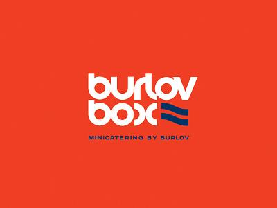 BurlovBox minicatering typography design company font brandidentity identity branding logotype logo brand