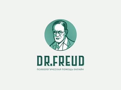 Dr.Freud - Psychological help online typography design company font brandidentity identity branding logotype logo brand