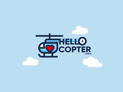 Hellocopter illustration design font brandidentity identity branding logotype logo brand